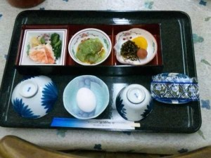 最御崎寺宿坊の朝食