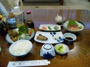 丸米旅館の夕食