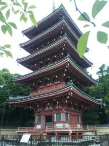 32番札所竹林寺の五重塔