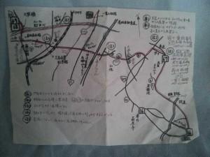民宿岡田からもらった地図