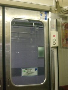 東北の電車のドア