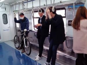 自転車も地下鉄に