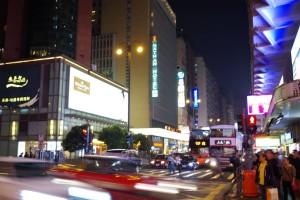 香港一の繁華街ネイザンロード