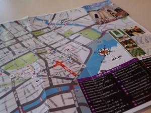 サイゴンの観光マップ