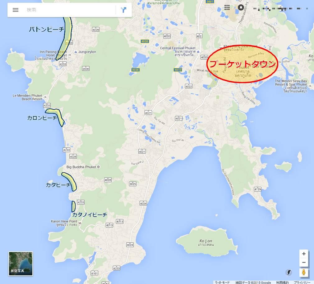 プーケット島の地図