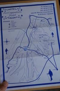 カッパドキアのハイキングコース地図