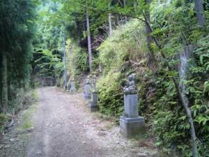舎心ヶ嶽の参道