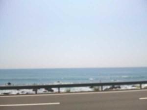 55号線からの太平洋
