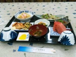最御崎寺宿坊の夕食