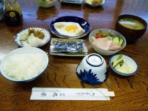 丸米旅館の朝食
