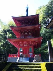 36番札所青龍寺の三重塔