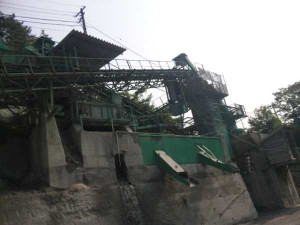 松尾峠の採石場
