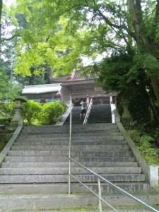 43番札所明石寺山門へ続く階段