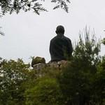 舎心ヶ嶽の大師像