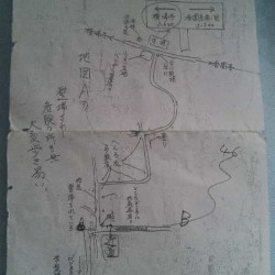 ビジネス旅館小松からもらった地図
