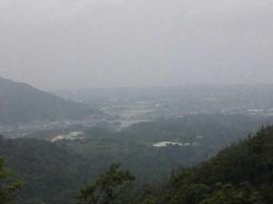 雲辺寺登山道からの景色
