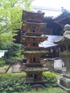 81番札所白峯寺の五重塔