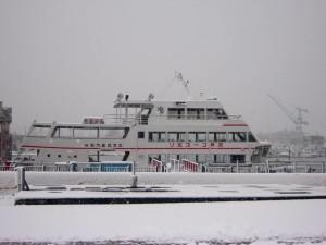芭蕉コース巡りの遊覧船