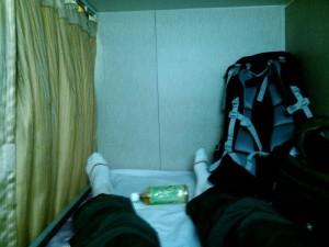 フェリーのベッド
