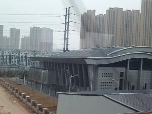 中国の新幹線「CRH」の車窓から