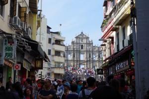 聖ポール天主堂跡前の通り