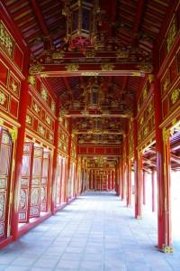 フエ王宮、西の廻廊