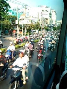 サイゴンの通勤ラッシュ