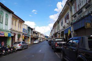 プーケット旧市街の町並み