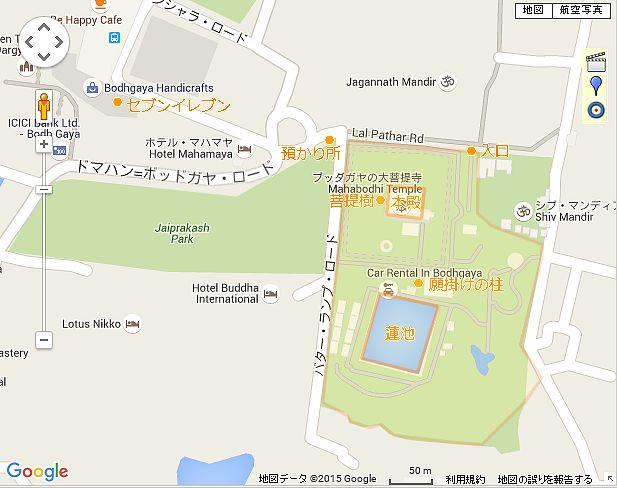 マハーボディー寺院散策マップ