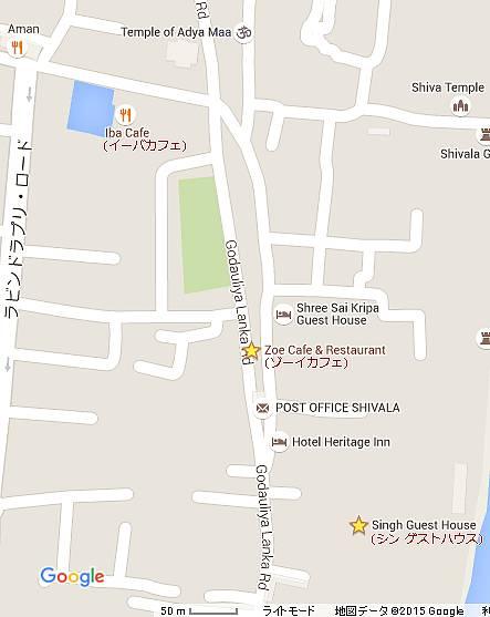 ゾーイカフェの地図