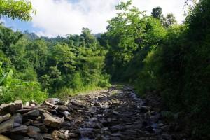 水が流れる道