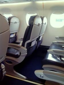 アスタナ航空の機内