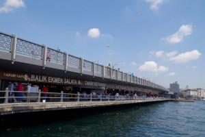 ガラタ橋の下のレストラン