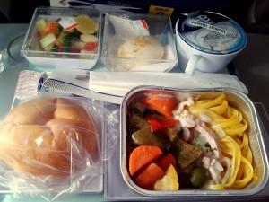アスタナ航空の機内食