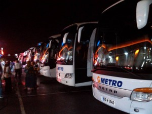 トルコの長距離バス(METRO社)